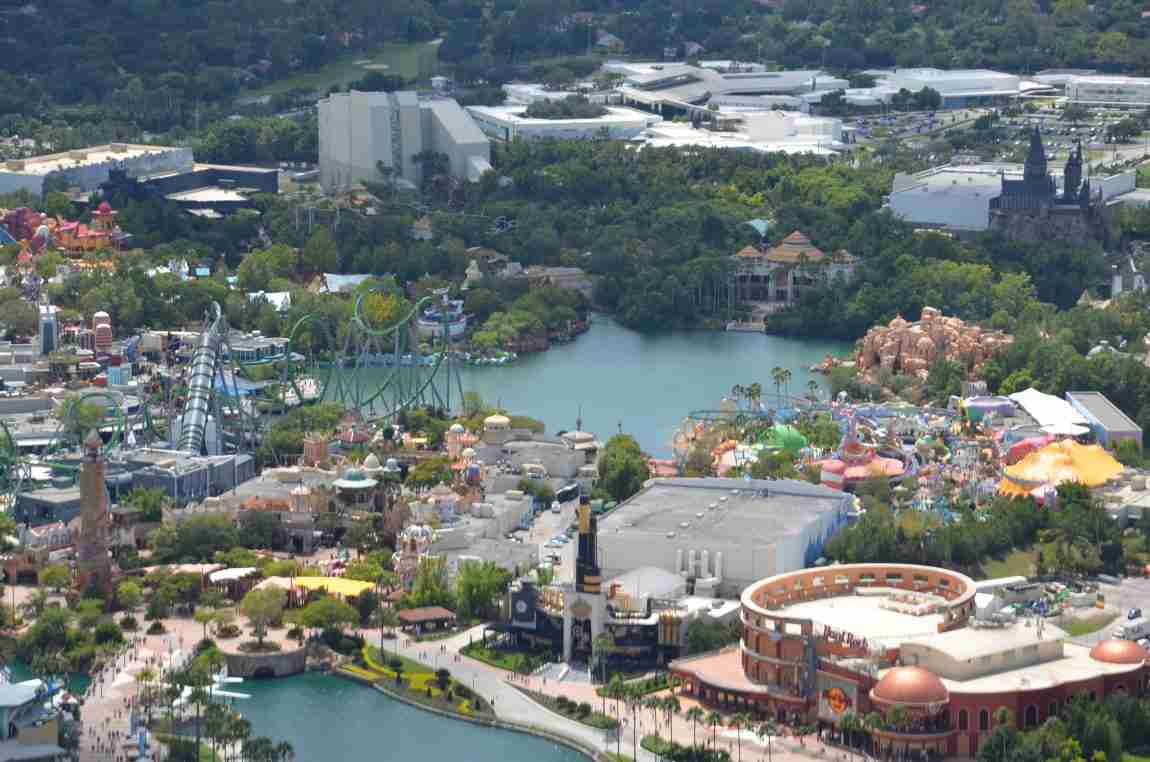 helicopter over universal studios