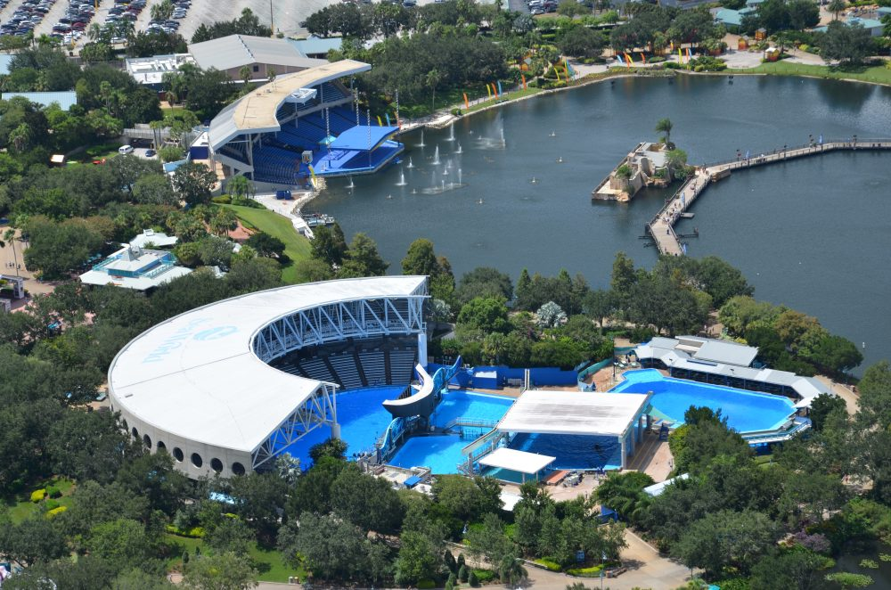 Helicopter over seaworld