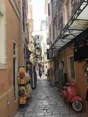Corfu town old town