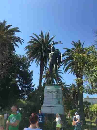 statue of achilles in corfu