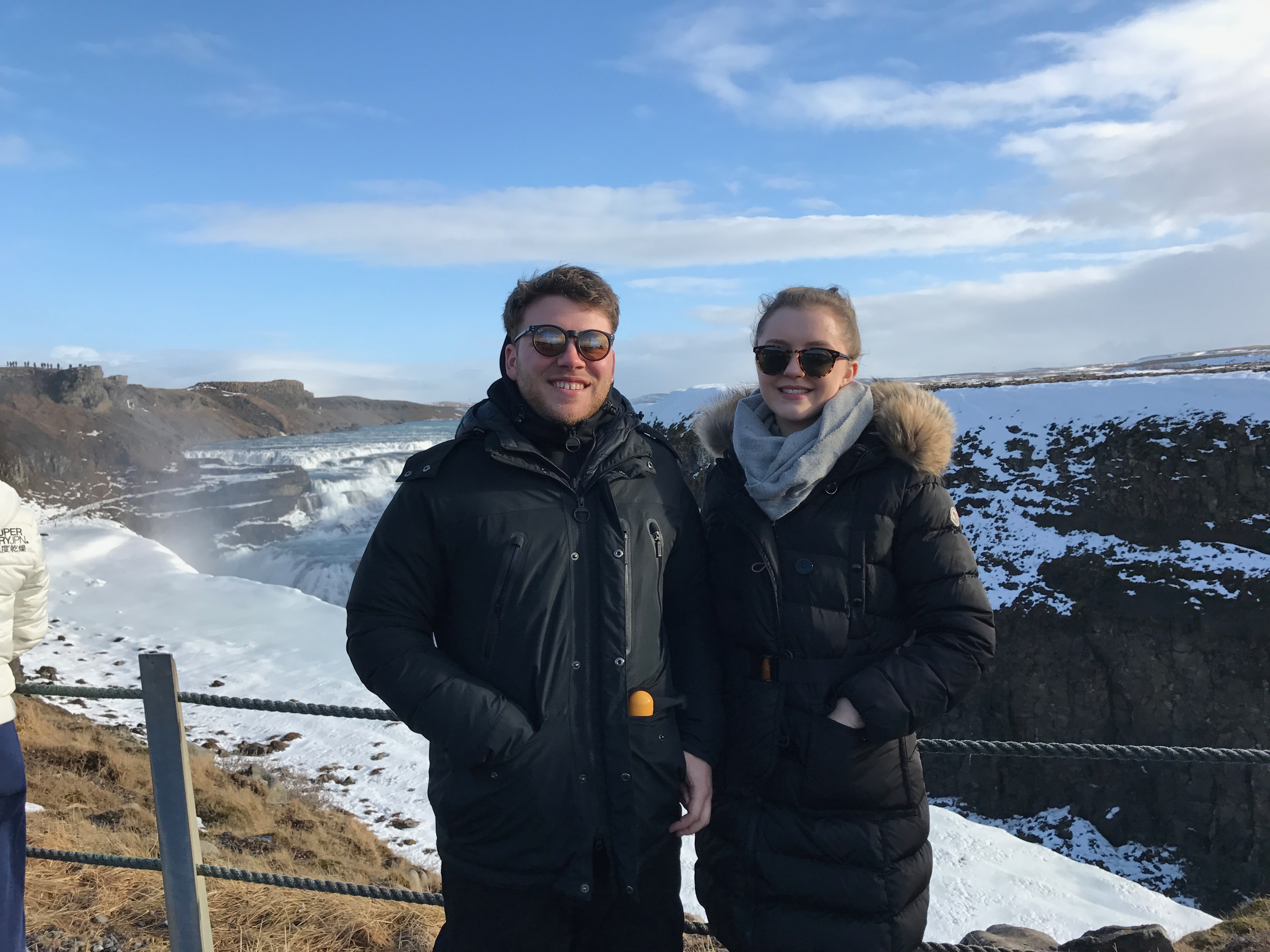 a couple of idiots abroad in Iceland
