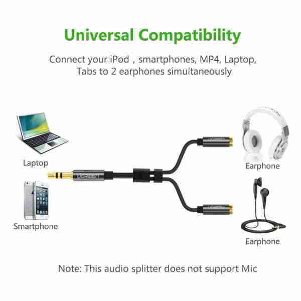 music splitter for partners traveling