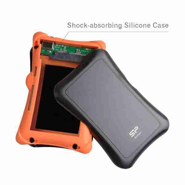 silcone hard drive shock proof for traveling and backpacking